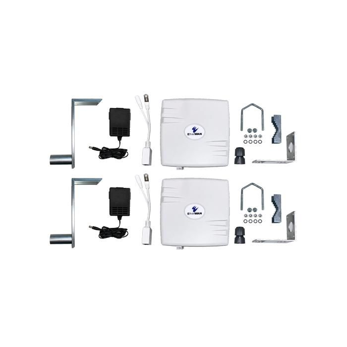 EasyLink - 802.11b/g/n, IP67, Wireless Bridge Complete Kit, 5GHz/14dBi Panel Antenna