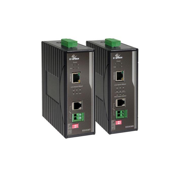 ED3538 - Hardened 10/100BASE-TX PoL/PoE Ethernet Extender