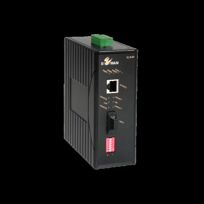 EL1141 Series - Hardened-grade Fast Ethernet to Fiber Media Converter