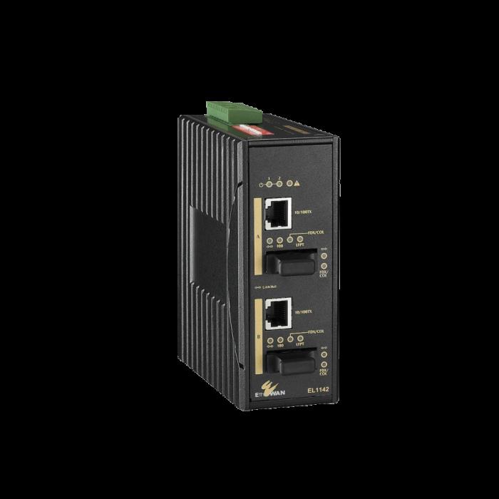 EL1142 Series  - IEC 61850-3/IEEE 1613 Hardened 2-Port 10/100BASE-TX to 2-Port 100BASE-FX Media Converter