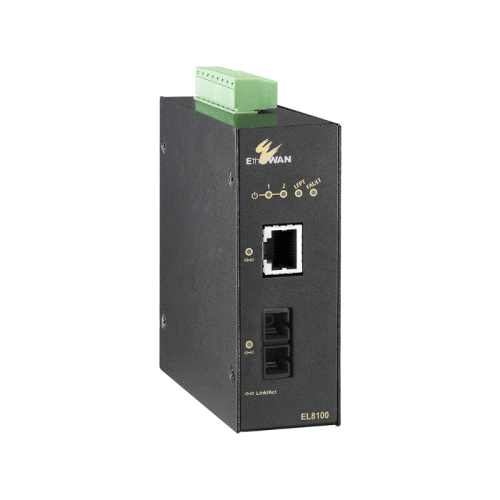 EL8000 Series - Hardened 1000BASE-TX to 1000BASE-SX/LX/BX/SFP Media Converter