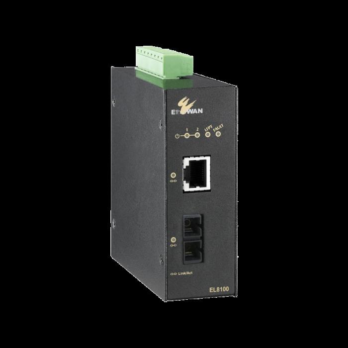 EL8100 Series - Hardened 10/100/1000BASE-TX to 1000BASE-SX/LX/BX Media Converter