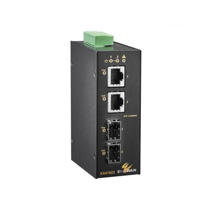EX41922 - Hardened Unmanaged 2-port Gigabit + 2-port 100/1000 SFP Ethernet Switch