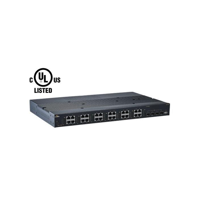 EX75900 - Lite L3 Hardened Managed 24 Port Gig PoE + 4 SFP Dual-Rate 10-Gig Ports