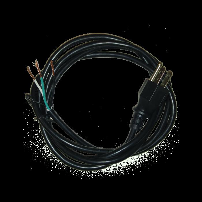 """PC-183-72 - Power Cord, 6' 18AWG/3C Unshielded, NEMA 5-15P Plug, ROJ 2"""" 5/8"""" Stripped"""